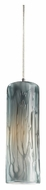 ELK 551-1MD Maple Mini 4 Inch Diameter Satin Nickel Pendant Light Fixture In Maple Dusk Glass