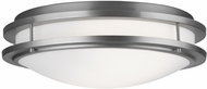 Philips F2457-36U Cambridge Large Contemporary Fluorescent Flush Mount Ceiling Light in Satin Nickel