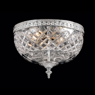 Crystorama 117-10-CH Serene 10 inch crystal flush mount in chrome