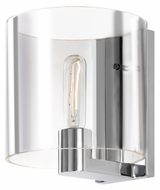 Sonneman 3690.01C Delano 8 Inch Tall Clear Glass Lighting Wall Sconce - Polished Chrome