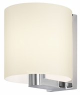 Sonneman 3690.01W Delano Transitional 8 Inch Tall Etched Cased Glass Wall Sconce Light