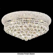 Worldwide 33011 Worldwide Small Crystal Style Circular Flush-Mount Ceiling Light