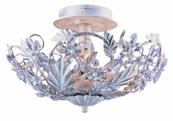 Crystorama 5316-AW Abbie 16 inch semi flush mount in antique white