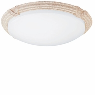 AFX CRR313TREC Reed & Ribbon Travertine Fluorescent Flush-Mount Ceiling Fixture