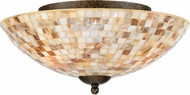Quoizel MY1613ML Monterey Mosaic Small Flush Mount Ceiling Light