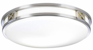 PLC 1955-SN Serena Fluorescent Ceiling Light in Satin Nickel