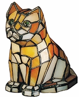 Meyda Tiffany 11332 Tiffany Orange Kitten Accent Lamp