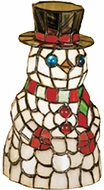 Meyda Tiffany 18461 Tiffany Snowman Accent Lamp