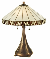 Meyda Tiffany 29137 Checkerboard 23 Inch Tall Transitional Table Lamp Lighting