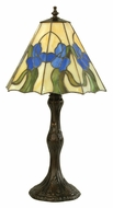 Meyda Tiffany 38139 Iris 20 Inch Tall Accent Tiffany Art Glass Table Lamp