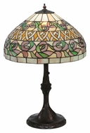 Meyda Tiffany 24752 Ivy Basket 24 Inch Tall Tiffany Art Glass Table Lamp Lighting
