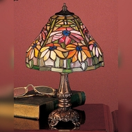 Meyda Tiffany 26633 Poinsettia 13 Inch Tall Tiffany Style Glass Table Lamp