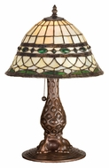 Meyda Tiffany 27539 Roman Tiffany Style 18 Inch Tall Art Glass Accent Table Lamp