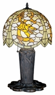 Meyda Tiffany 27567 Chinese Dragon 25 Inch Tall Tiffany Art Glass Table Top Lamp