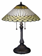 Meyda Tiffany 27576 Fishscale Jadestone 17 Inch Diameter Tiffany Table Lighting