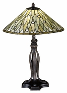 Meyda Tiffany 27578 Jadestone Dew Drop 24 Inch Tall Tiffany Art Glass Table Lamp Light