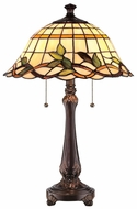 Lite Source LSC41251 Kyleigh 2-light Dual-Chain Tiffany Style Table Lamp