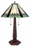 Lite Source LSC41239 Garrison Modern Bronze Tiffany Table Light