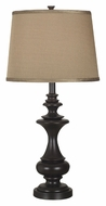 Kenroy Home 21430ORB Stratton 29 Inch Tall Oil Rubbed Bronze Bed Lamp