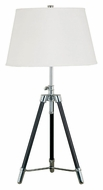Kenroy Home 21520ORB Surveyor Oil Rubbed Bronze Finish Tripod Table Lamp - 33 Inches Tall