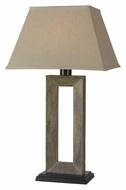 Kenroy Home 30515SL Egress Natural Slate Finish 32 Inch Tall Table Top Lamp