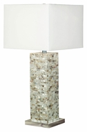 Kenroy Home 32025MOP Pearl 30 Inch Tall Mosaic Table Top Lamp