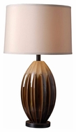 Kenroy Home 32042CAR Cocoon 30 Inch Tall Caramel Ceramic Lamp