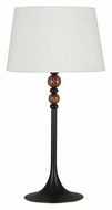Kenroy Home 20117ORB Luella 30 Inch Tall Oil Rubbed Bronze Finish Bed Lamp