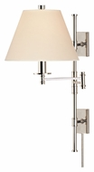 Hudson Valley 7731 Claremont 25 Inch Tall Swing Arm Wall Lamp With Full Range Dimmer