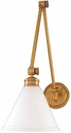 Hudson Valley 4731 Exeter Contemporary Wall Swing Arm Lamp with Glass Shade