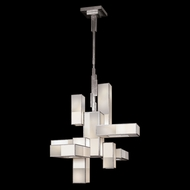 Fine Art Lamps 732040-2GU Perspectives Silver 12-lamp Large Modern Chandelier