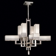 Fine Art Lamps 733840-2 Perspectives Silver Medium 8-lamp Fluorescent Chandelier Lamp