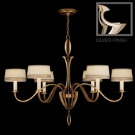 Fine Art Lamps 786740 Staccato Silver 6-light Contemporary Chandelier with Shades