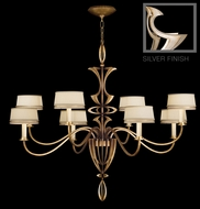 Fine Art Lamps 786640 Staccato Silver Large Contemporary Chandelier with Shades