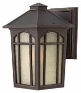 Hinkley 1980OZ Cedar Hill Oil Rubbed Bronze Finish 9 Inch Tall Traditional Small Exterior Wall Lamp