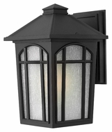 Hinkley 1984BK Cedar Hill Large Black Finish Exterior Sconce - 13 Inches Tall