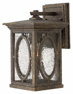Hinkley 1490AM Randolph Autumn Finish 11 Inch Tall Traditional Seedy Glass Small Outdoor Sconce