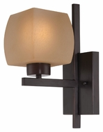 Lite Source LS16481 Solo 12 Inch Tall Transitional Dark Bronze Wall Sconce Light