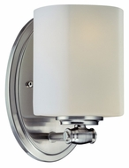 Lite Source LS16881PS/FRO Denali 8 Inch Tall Polished Steel Lamp Sconce - Transitional