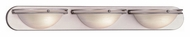 Lite Source LS13983SS/CLD Caprice Transitional 3 Lamp Bathroom Vanity Light Fixture - 36 Inches Wide