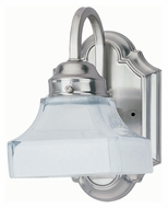Lite Source LS16261PS/FRO Campton 8 Inch Tall Polished Steel Finish Wall Sconce Light Fixture
