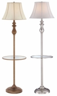 Quoizel Q1055F Portable Glass Shelf Traditional 60 Inch Tall Floor Light