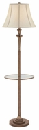 Quoizel Q1073FPN Portable Glass Mid Shelf Bronze Traditional Floor Lamp