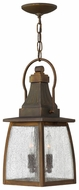 Hinkley 1202SN Montauk Exterior 17.3 Inch Tall Lantern Pendant Light