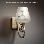 Justice Design FAL-8571 Victoria Lumenaria Glass 11 Inch Tall Transitional Wall Sconce Light