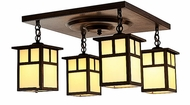 Arroyo Craftsman MCM-5/4 Mission Craftsman 4 Light Flush Mount Ceiling Fixture - 16.875 inches wide
