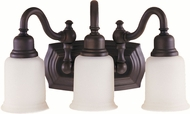 Feiss VS8003-ORB Canterbury 3-light 9 inch Vanity Light in Oil Rubbed Bronze