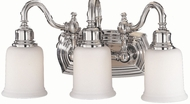 Feiss VS8003-PN Canterbury 3-light 9 inch Vanity Light in Polished Nickel