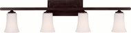 Feiss VS8704-ORB Boulevard 4-light 9 inch Vanity Lamp in Oil Rubbed Bronze