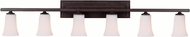 Feiss VS8706-ORB Boulevard 6-light 9 inch Vanity Lamp in Oil Rubbed Bronze